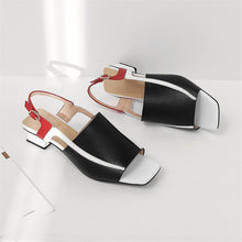Load image into Gallery viewer, Handmade Square Toe Sling back Sandals