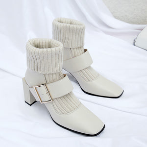 Lily Knit Sock Stretch Boots