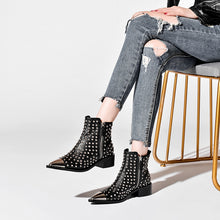Load image into Gallery viewer, Osvaldo Handmade Studded Ankle Booties