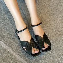 Load image into Gallery viewer, Rosa Vintage Ankle Strap Sansals