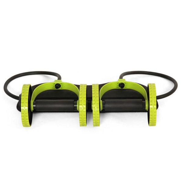 Fixed Ab Roller with Resistance Bands