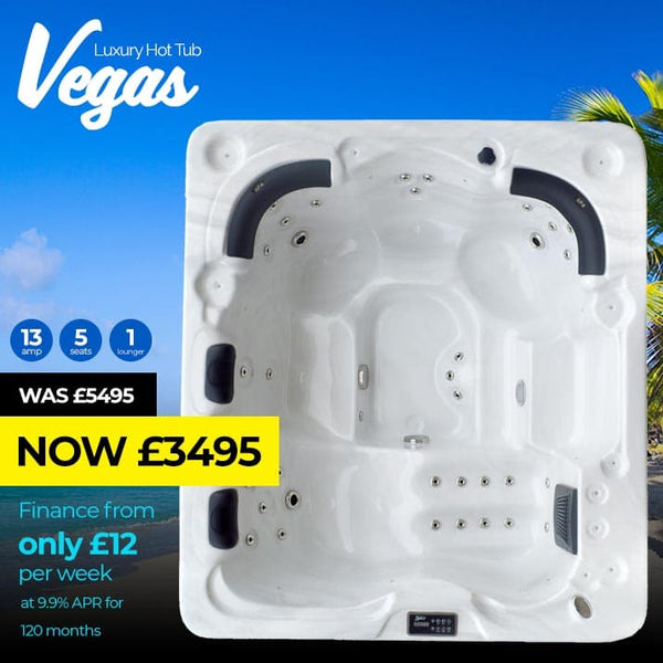 Vegas 5 Seat (1 Lounger) Luxury Hot Tub Spa | Plug & Play Hot Tubs