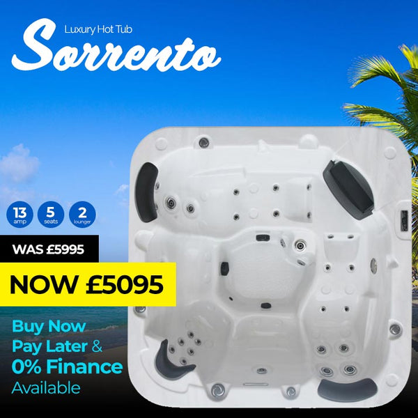 Sorrento 5 Seat (2 Lounger) Luxury Hot Tub Spa | Plug & Play Hot Tubs