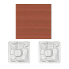 Wooden exterior panel light brown with silver white marble interior