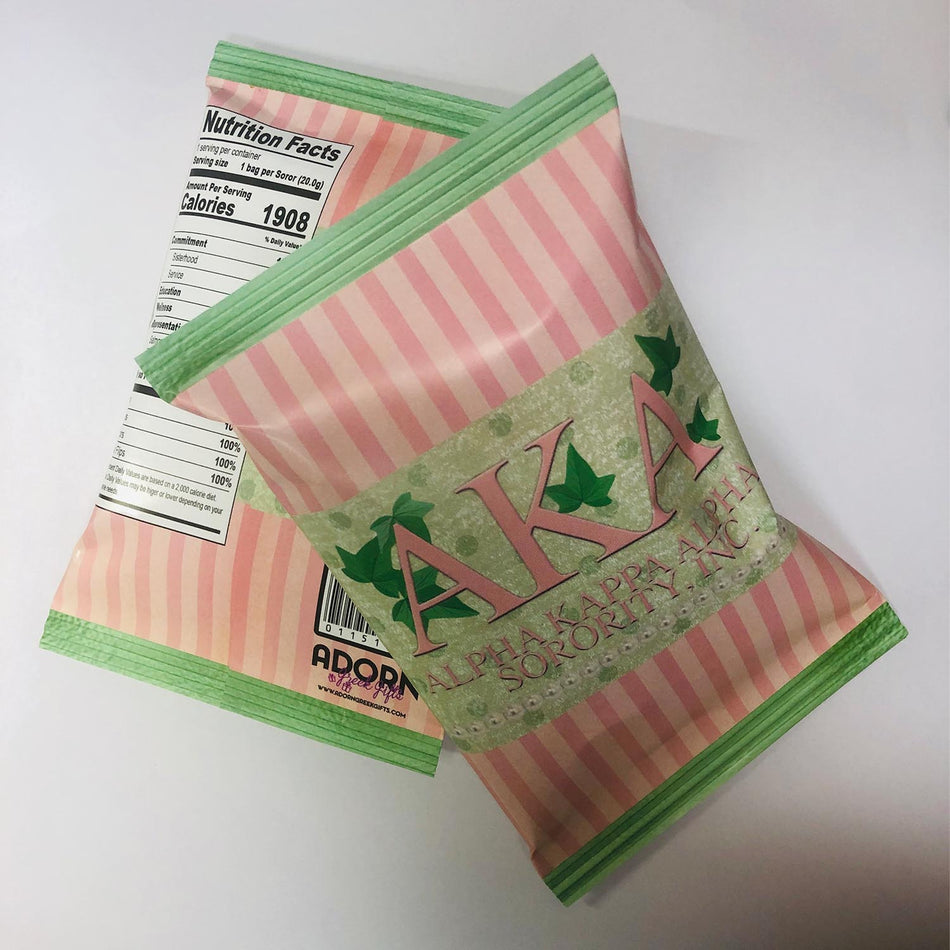 SKEE-WEE! TREATS - Alpha Kappa Alpha Chip Bags - Filled with Chips or Pretzels
