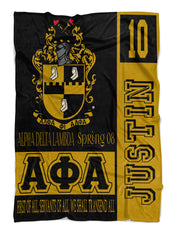 Alpha Phi Alpha Black and Gold Fraternity Blanket