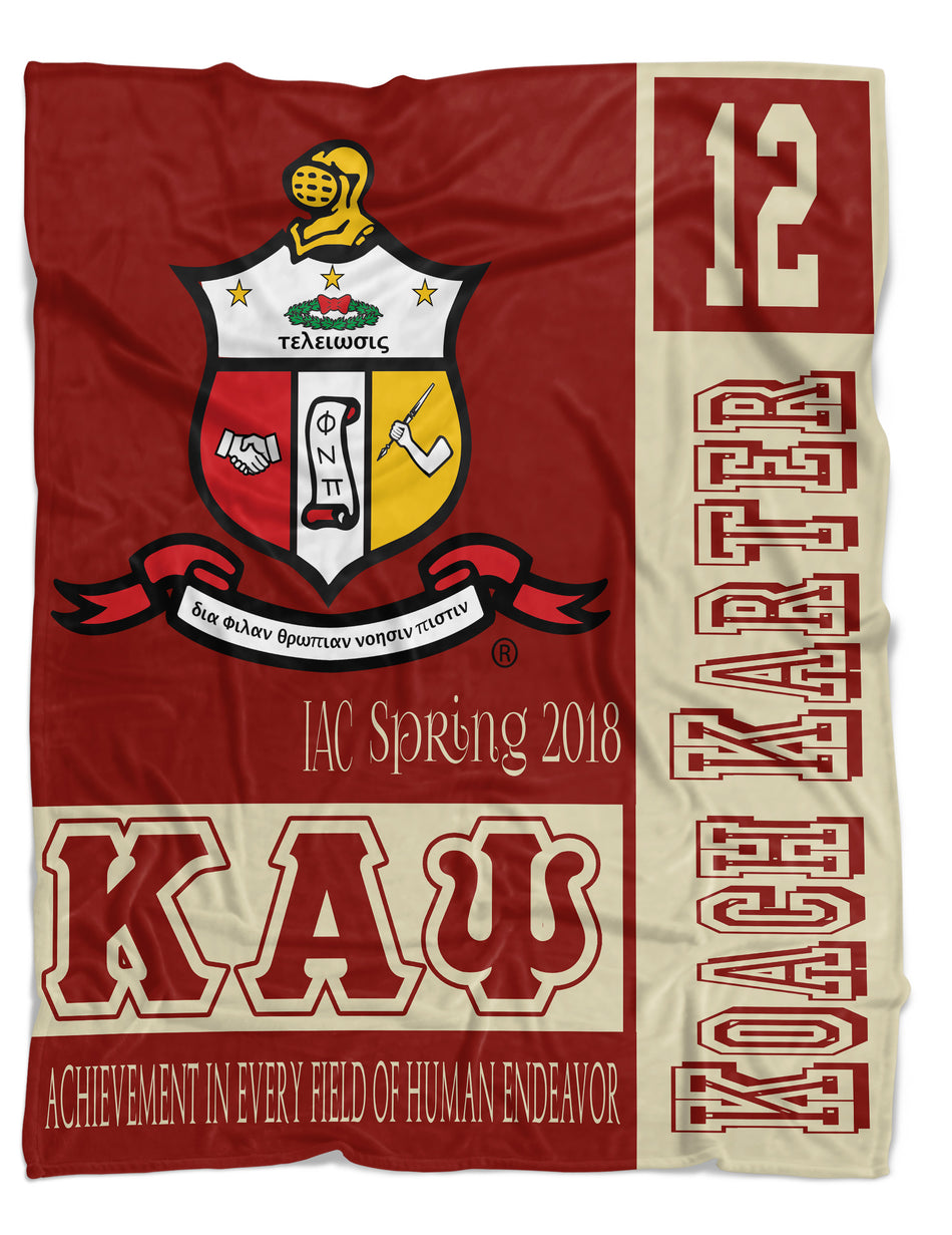 YO! HOME - Kappa Alpha Psi Fraternity Blanket - Crimson and Cream - NEW DESIGN