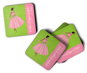 SKEE-WEE! Coaster - Alpha Kappa Alpha - Set of Two