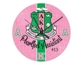 SKEE-WEE! HOME - Alpha Kappa Alpha Personalized Clock