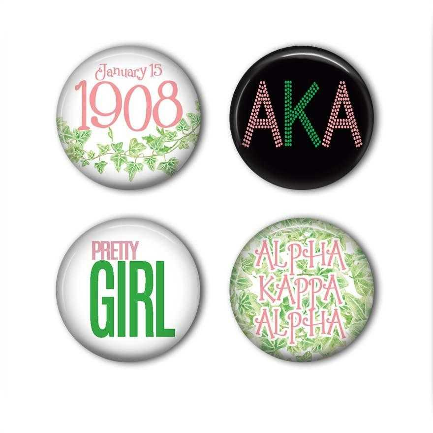 SKEE-WEE! ACCESSORIES - Pinback Buttons Set of 4 | Adorn Greek Gifts