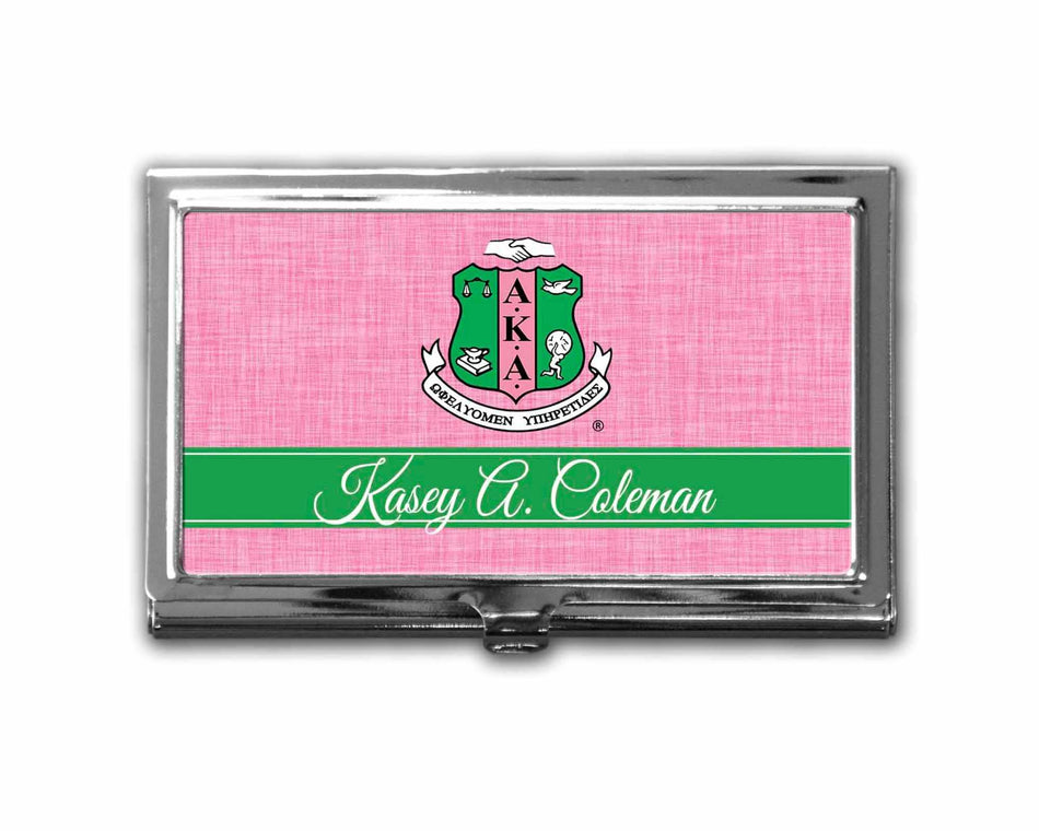 SKEE-WEE! OFFICE - Alpha Kappa Alpha Business Card Holder Personalized