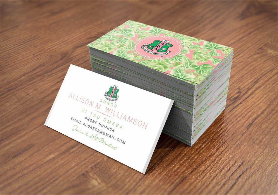SKEE-WEE! OFFICE - Alpha Kappa Alpha Contact Cards