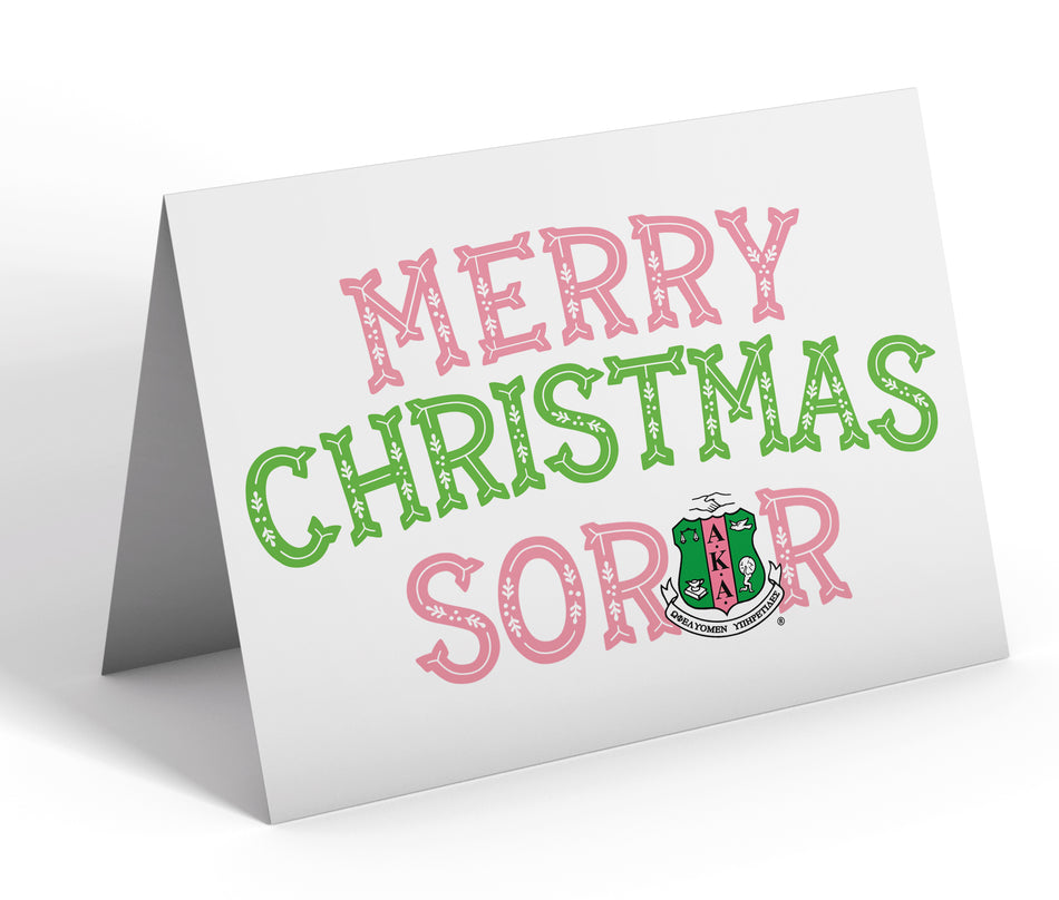 Sorority Christmas Card - Alpha Kappa Alpha