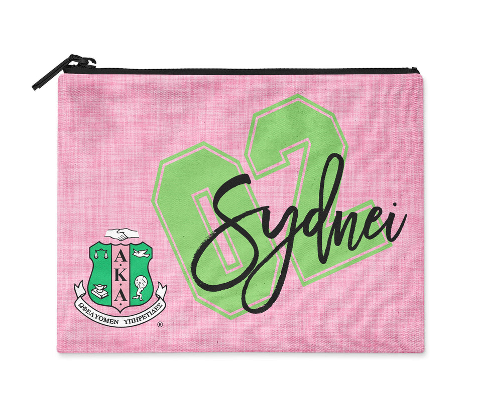 Alpha Kappa Alpha Personalized Cosmetic Bag