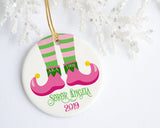 Alpha Kappa Alpha Christmas Elf Ornament