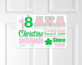 Alpha Kappa Alpha Infographic Sign