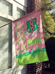 Alpha Kappa Alpha House Flag - Adorn Greek Gifts
