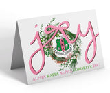 Alpha Kappa Alpha Christmas Note Cards