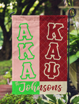 Alpha Kappa Alpha & Kappa Alpha Psi Personalized Yard Flag