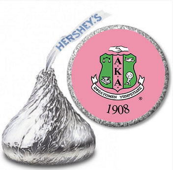 Alpha Kappa Alpha Hershey Kisses Label - Shield