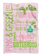 SKEE-WEE! HOME - Alpha Kappa Alpha Personalized Fleece Blanket