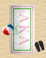SKEE-WEE! ACCESSORIES - Alpha Kappa Alpha 70x35 Beach Towel