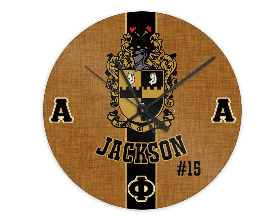 A-PHI! HOME - Alpha Phi Alpha Personalized Clock