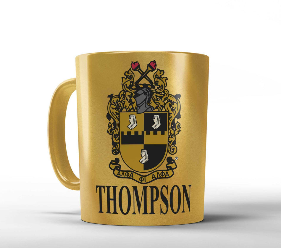 A-PHI! OFFICE - Alpha Phi Alpha Mug Personalized - Gold