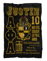Alpha Phi Alpha Fraternity Blanket - MADE IN THE USA