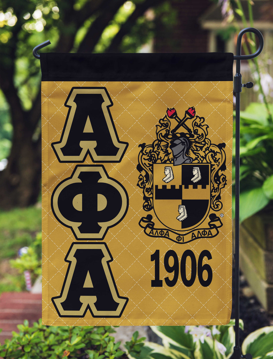 A-PHI! HOME - Alpha Phi Alpha Garden Flag or House Flag