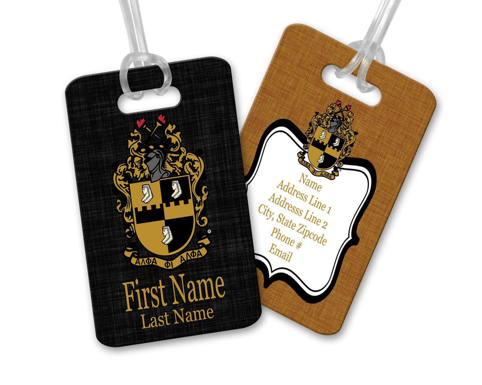 A-PHI! TRAVEL - Alpha Phi Alpha Luggage Tag
