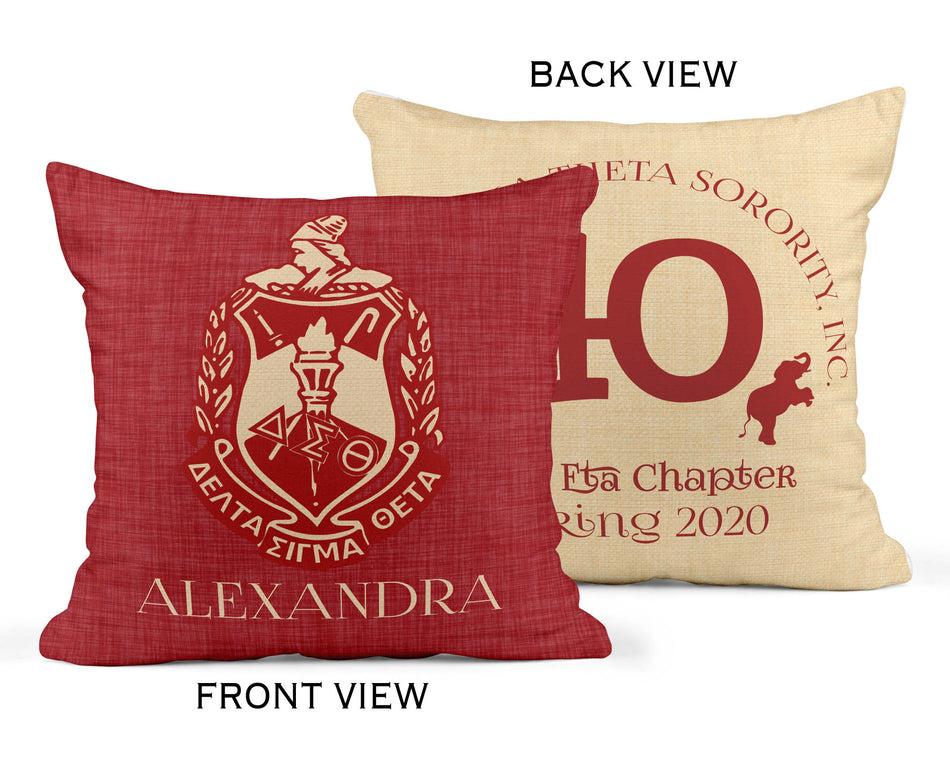 Delta Sigma Theta Chapter Pillow Cover
