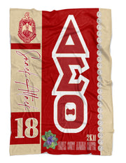 Delta Sigma Theta Personalized Blanket with Shield - Adorn Greek Gifts