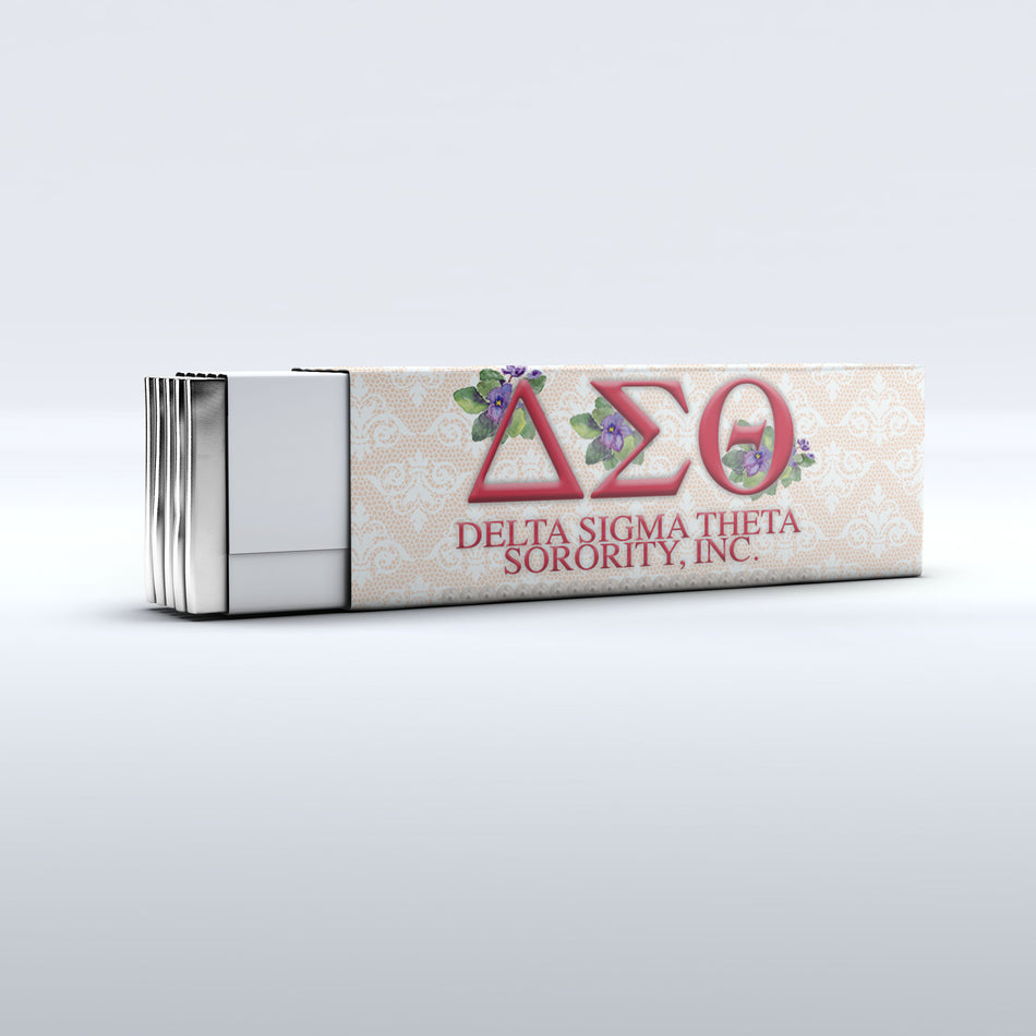 Delta Sigma Theta Chewing Gum Favor Side View - Adorn Greek Gifts