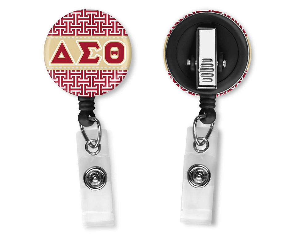OO-OOP! OFFICE - Delta Sigma Theta Office Badge Reel Greek Key