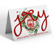 OO-OOP! STATIONERY - Delta Sigma Theta Merry Christmas Joy Note Cards