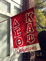 Delta Sigma Theta and Kappa Alpha Psi House Flag