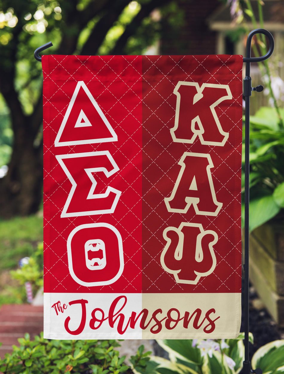 Delta Sigma Theta and Kappa Alpha Psi Personalized Garden Flag