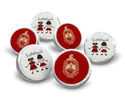 Delta Sigma Theta Hershey Kisses Labels