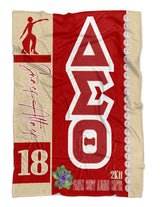 Delta Sigma Theta Personalized Blanket with Lady Fortitude - Adorn Greek Gifts