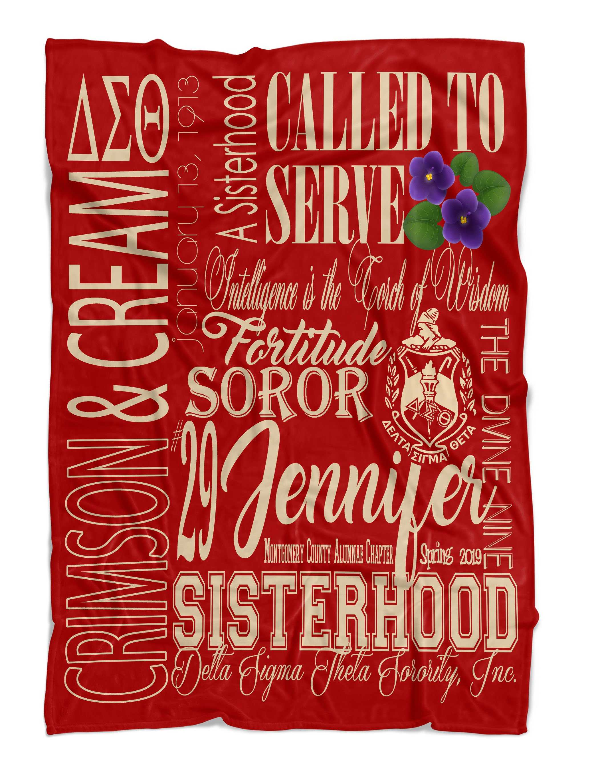 OO-OOP! HOME - Delta Sigma Theta Personalized Fleece Blanket