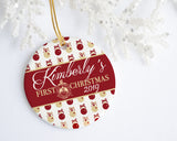 OO-OOP! - Celebrate Delta Sigma Theta First Christmas Personalized Ornament