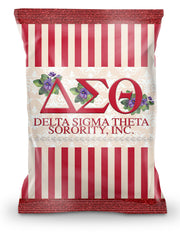 Delta Sigma Theta Chip Bag (Filled) - Adorn Greek Gifts