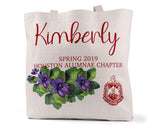 Delta Sigma Theta Personalized Simple Tote Bag
