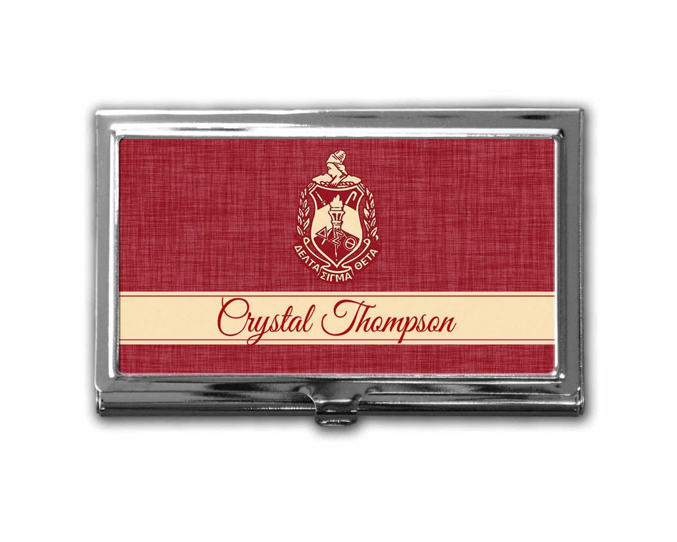OO-OOP! OFFICE - Delta Sigma Theta Business Card Holder Personalized