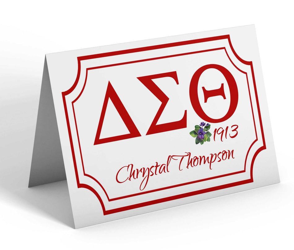 OO-OOP! STATIONERY - Delta Sigma Theta Personalized Notecards Greek Letters