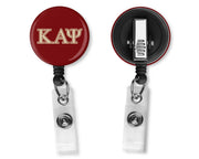 Crimson Kappa Alpha Psi Alligator Clip Badge Reel