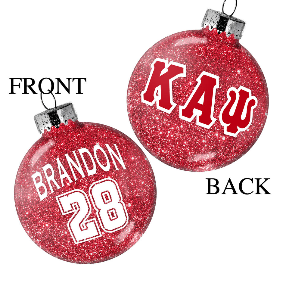 YO! Celebrate - Kappa Alpha Psi Glitter Glass Disc Ornament