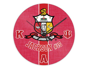 YO! HOME - Kappa Alpha Psi Personalized Clock