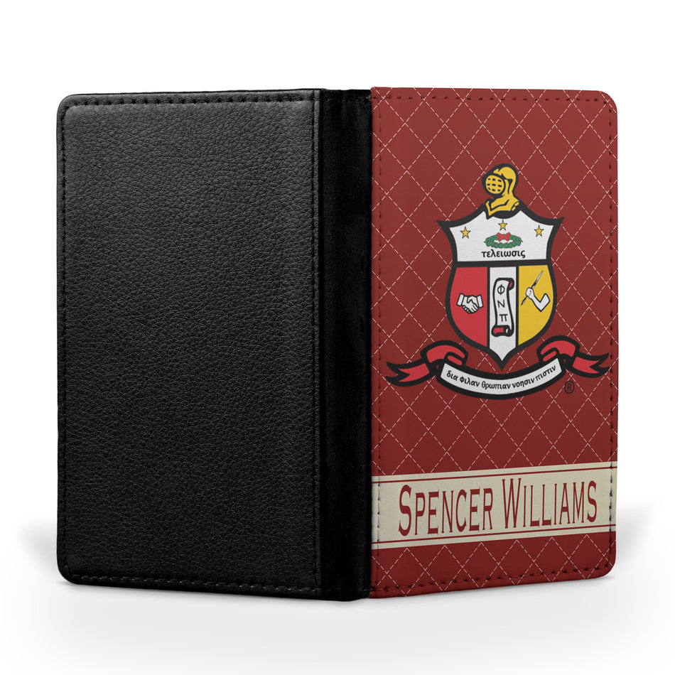 Kappa Alpha Psi Passport Cover - Adorn Greek Gifts